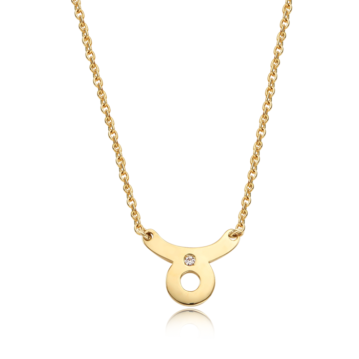 14K/18K Solid Gold Taurus (April 20 ~ May 20) Zodiac Sign Necklace