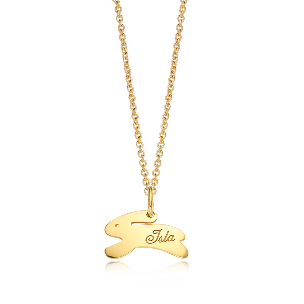 14K / 18K Gold Rabbit Running Necklace