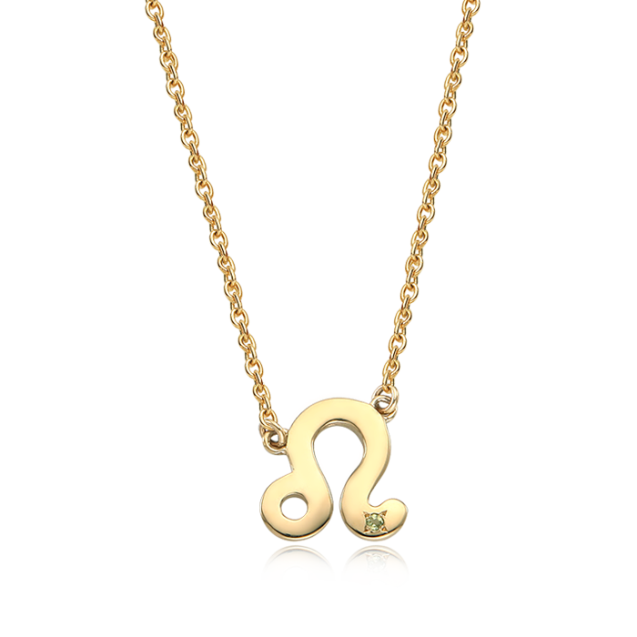 14K/18K Solid Gold Leo (July 23 ~ August 22) Zodiac Sign Necklace