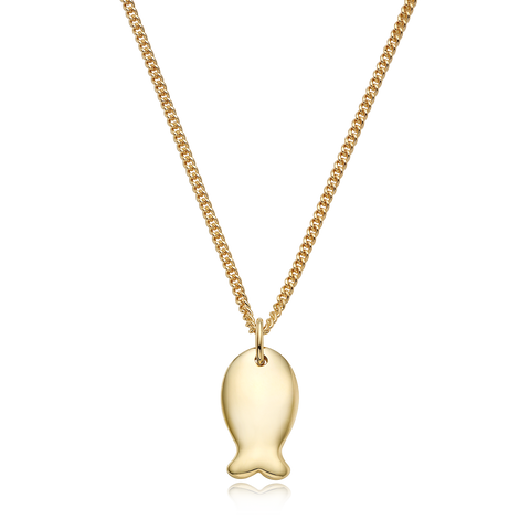 14K/18K Gold Carp Necklace