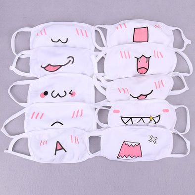 1PC Cute Anime Cartoon Mouth Muffle Face Mask Unisex Style Cover Cycling Anti Dust Cotton Facial Protective Cover Masks