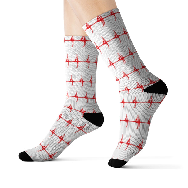 Patterned Silhouette Socks