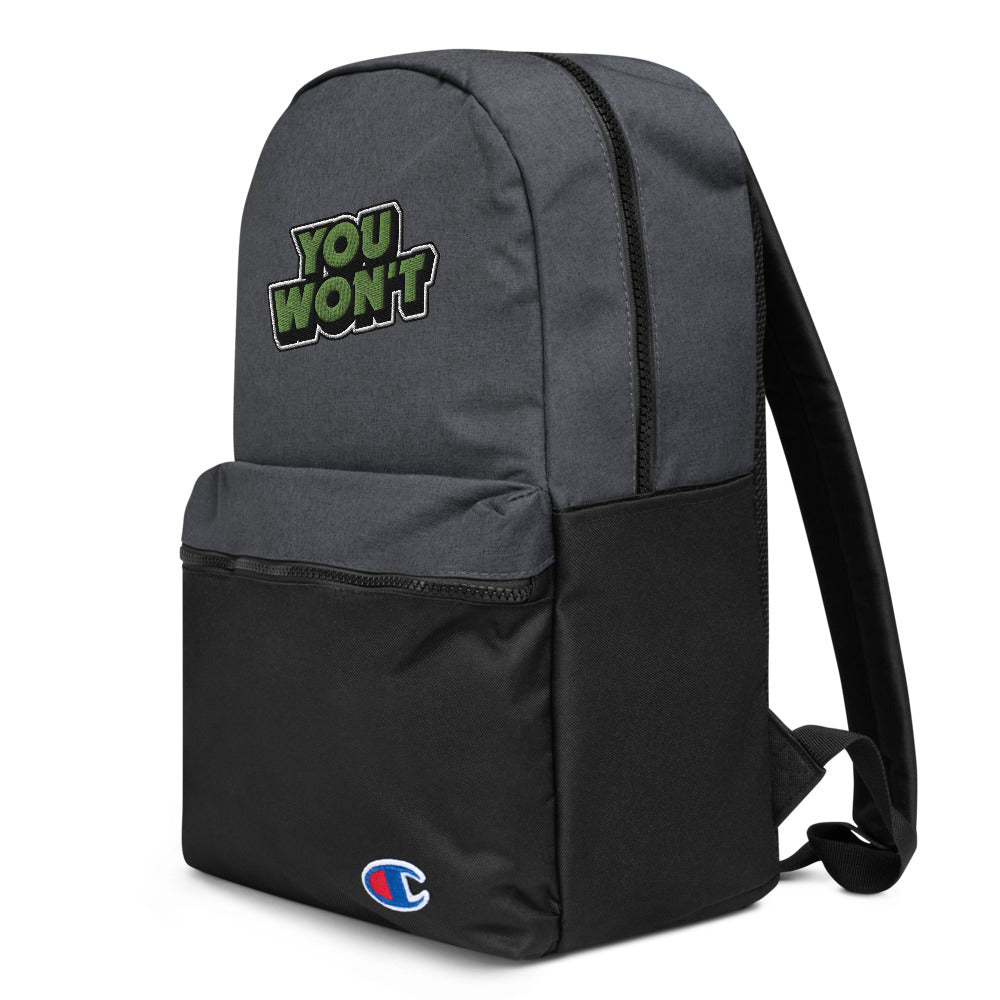you won't champion backpack
