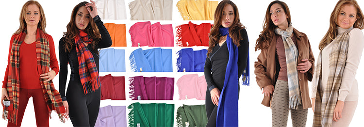 Cashmere and Angora Scarves