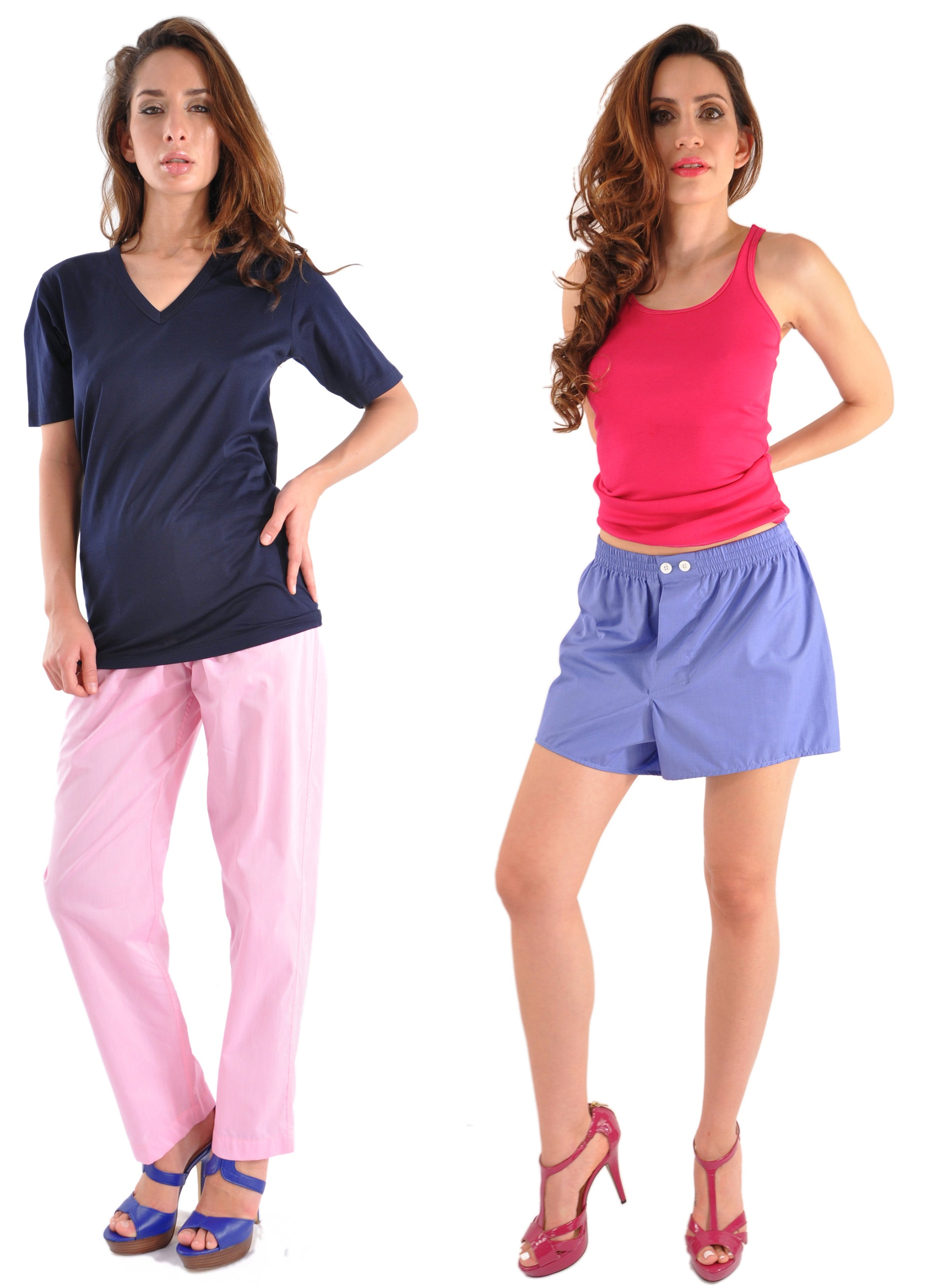 V-Neck Shirts & Boxers - Altogether Too Girl Friendly!