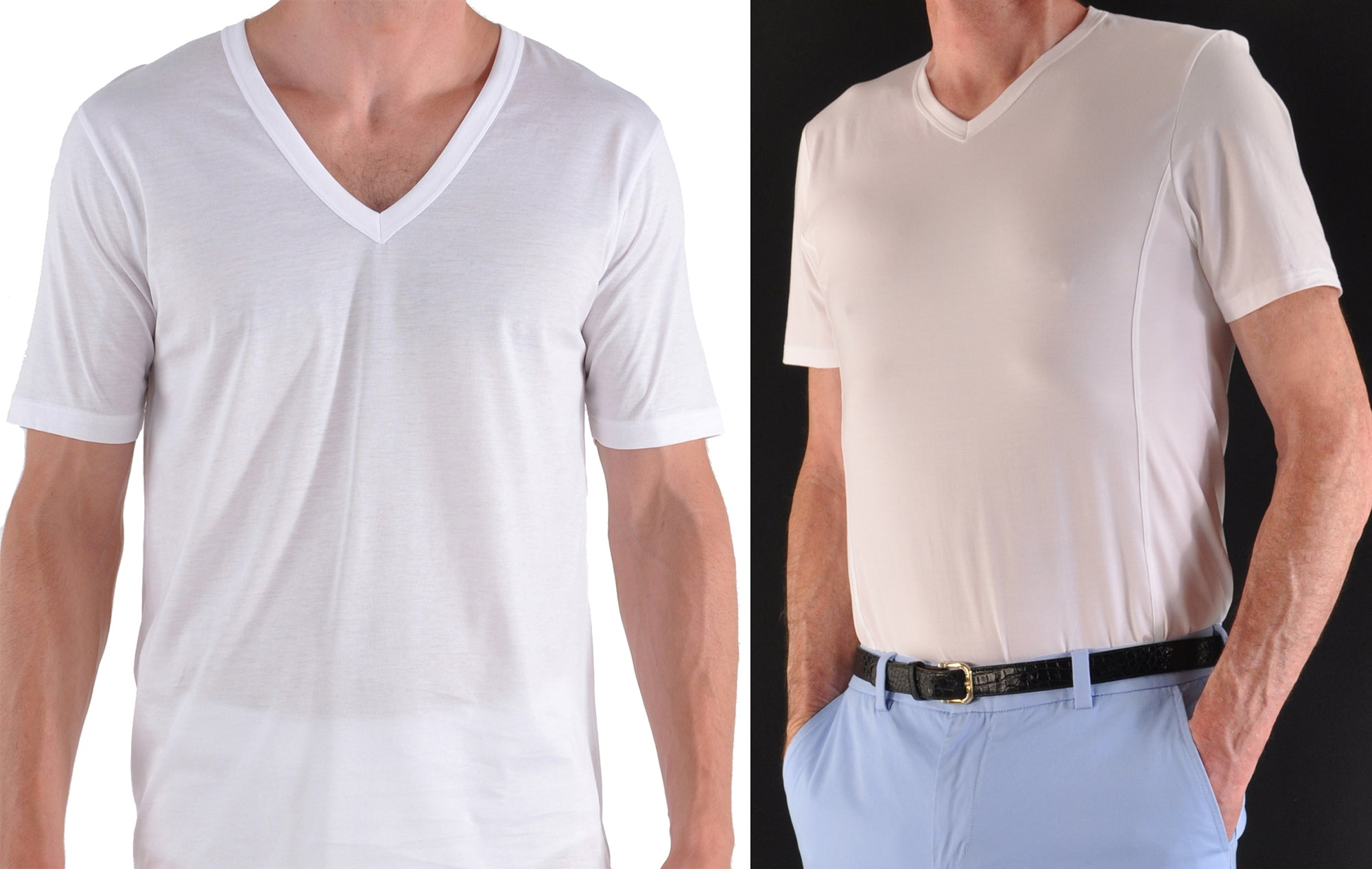 Deep V-nack vs High V-neck