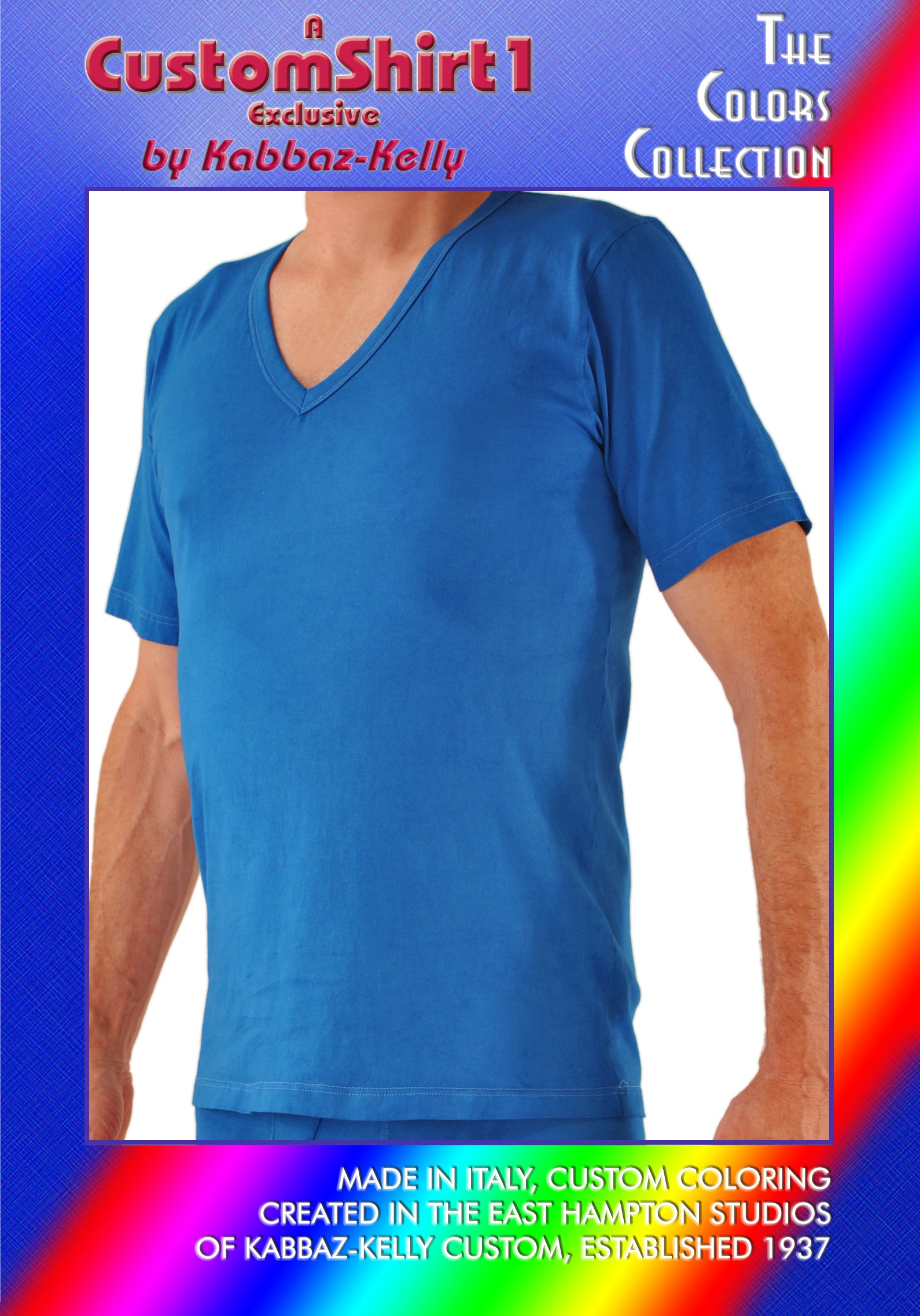 Kabbaz-Kelly Custom Color V-Neck Shirt