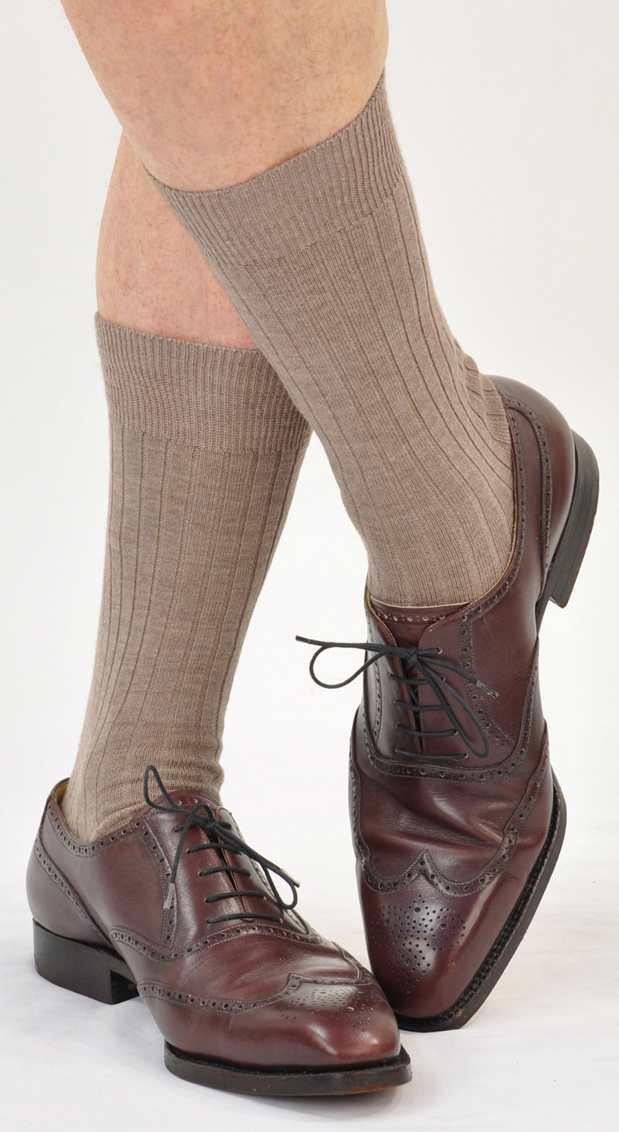Kabbaz-Kelly 100% Merino Mid-Calf Dress Socks