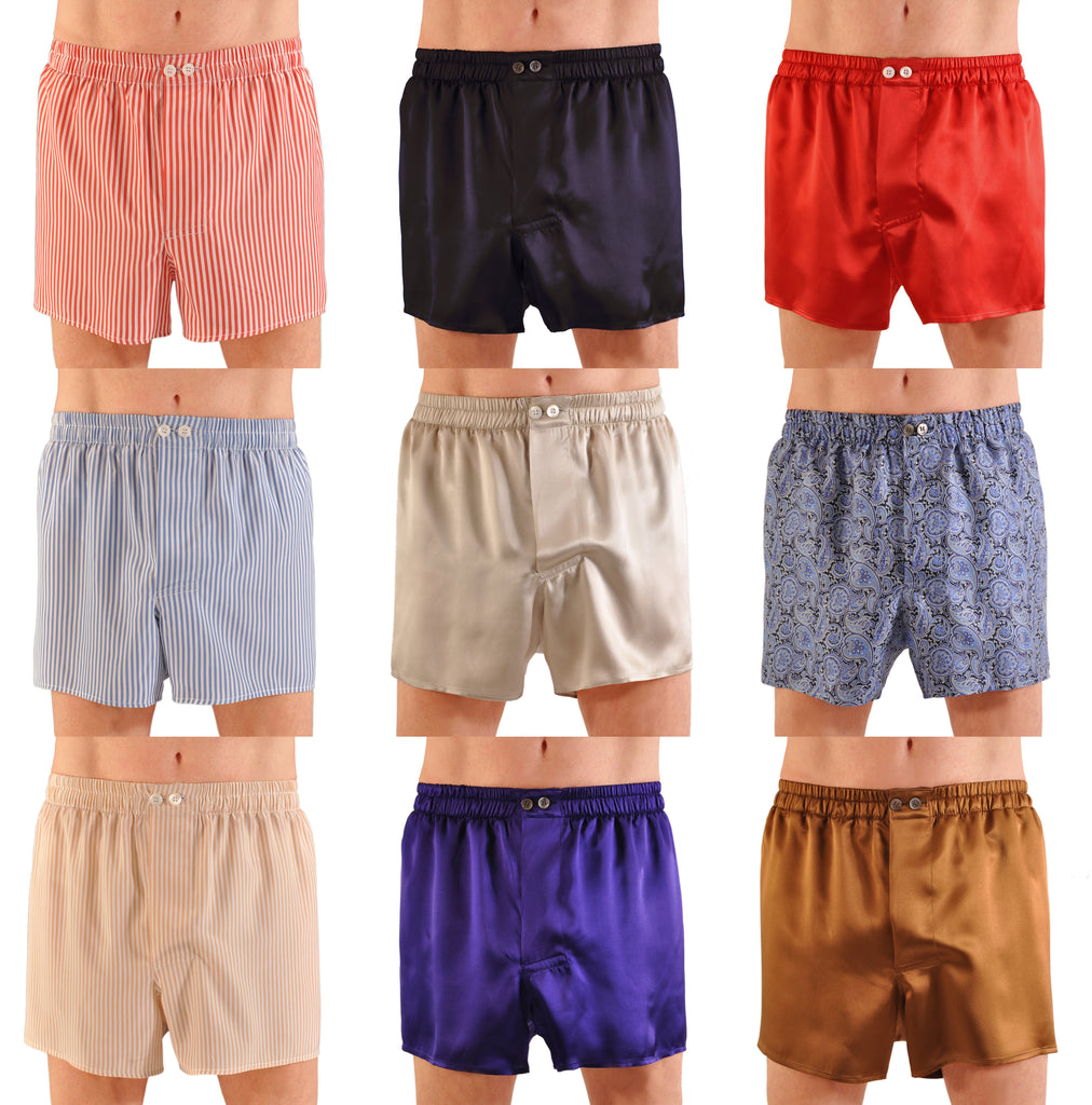 World's Finest Silk Boxer Shorts HandMade-To-Order