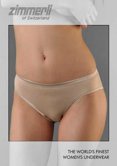 Zimmerli of Switzerland Womens Pureness Micromodal Solid Hipster Panty
