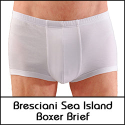 Bresciani Pure Sea Island Cotton Covered Waistband Closed Fly Boxer Brief