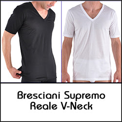 Bresciani Supremo Reale Two-Ply Egyptan Cotton V-Neck Undershirt