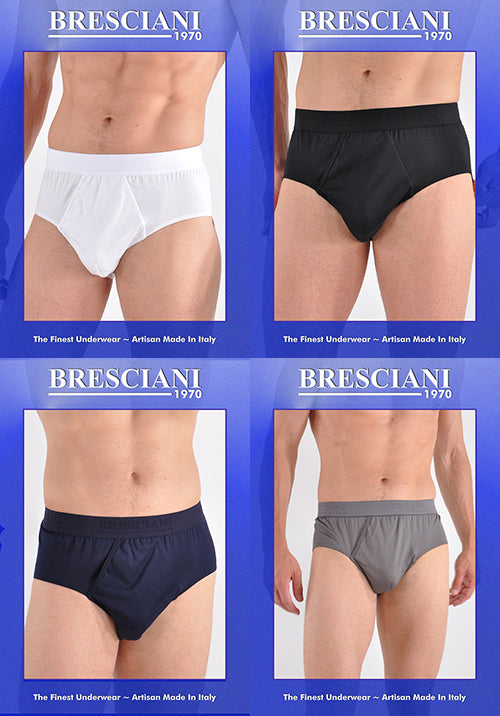 Bresciani Supremo Reale Two-Ply Egyptian Cotton Open Fly Brief
