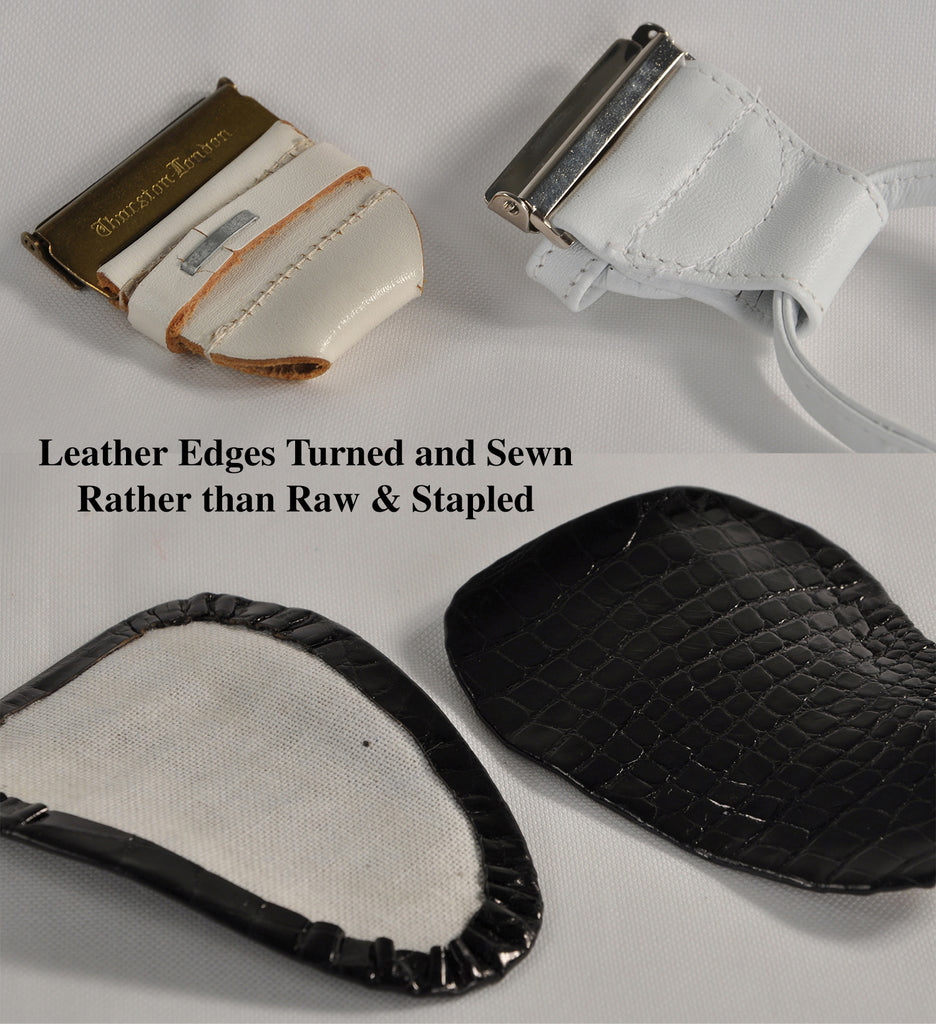 Difference between Raw-Edged and Turned Edge Leathers