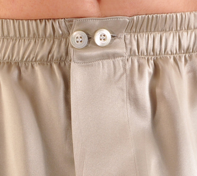 Button Front Waistband (shown on silk boxer)