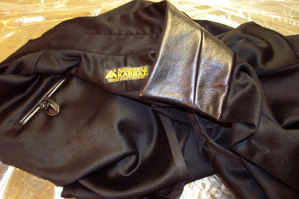 Custom Made Cashmere Shirt Jacket with Lambskin Trim