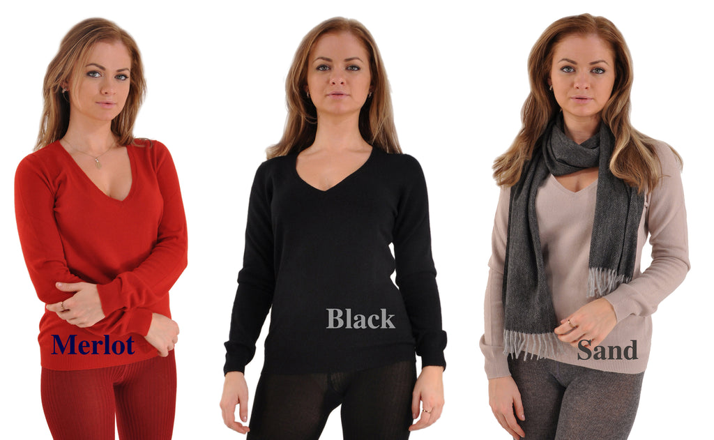 Incomparable Pure Italian Cashmere V-Neck Sweater