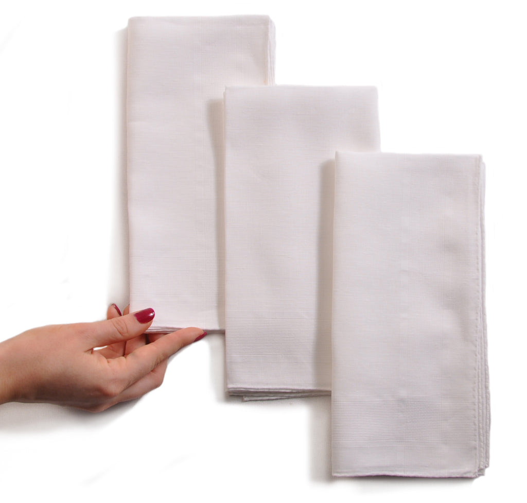 Hand-Rolled Irish Handkerchiefs in Linen, Cotton, and Linen/Cotton Blend