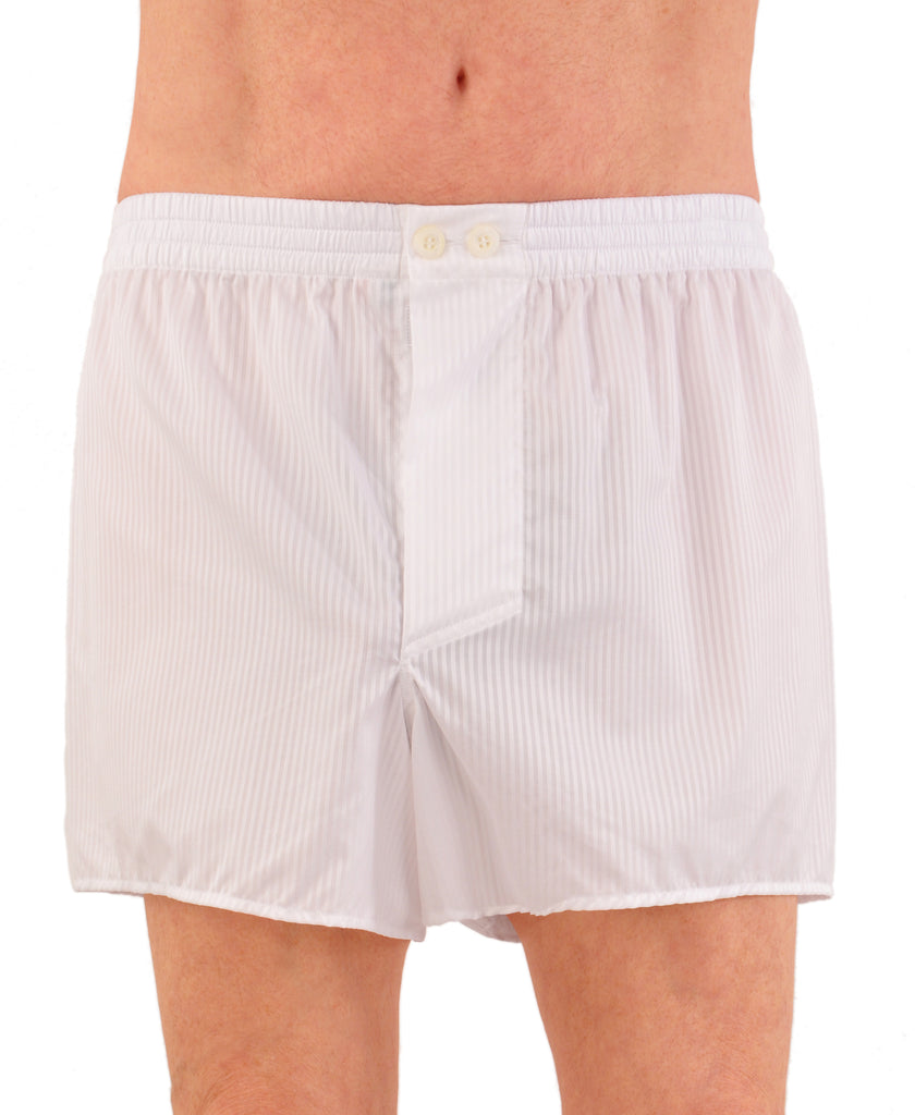 World's Finest Woven Boxer Shorts - Swiss 170s Voile Stripe