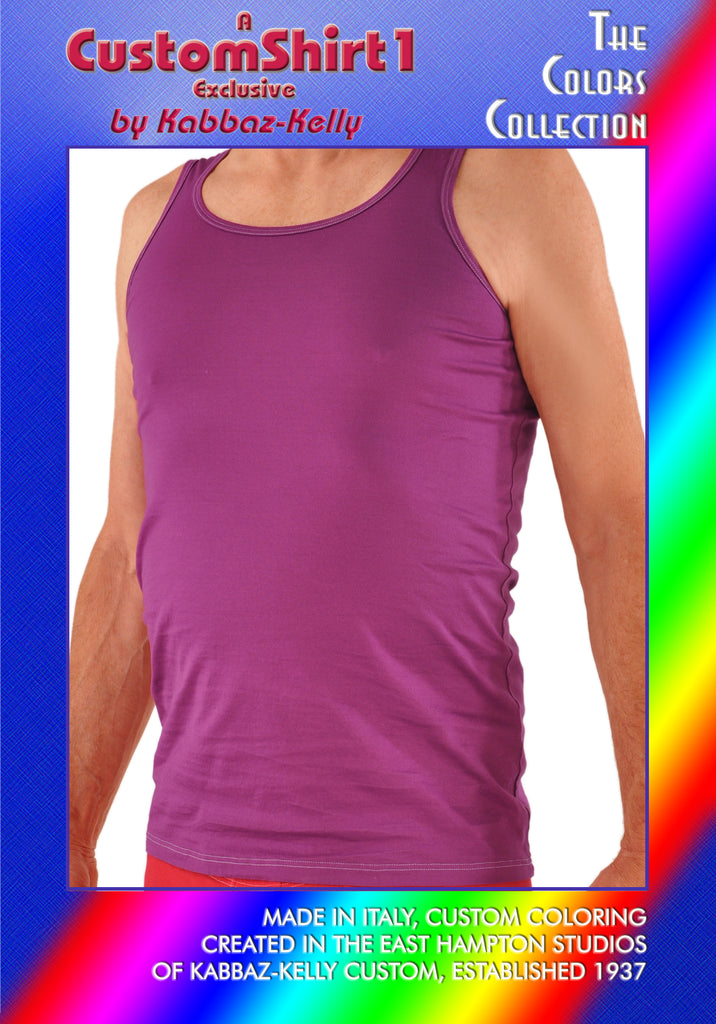 Custom Colors by Kabbaz-Kelly: Supremo Reale Wide Strap Cotton Tank Shirt