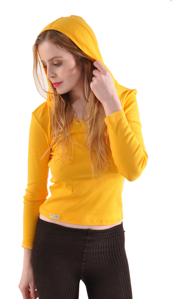 Pure Grace Long Sleeve Hoodie in Goldenrod