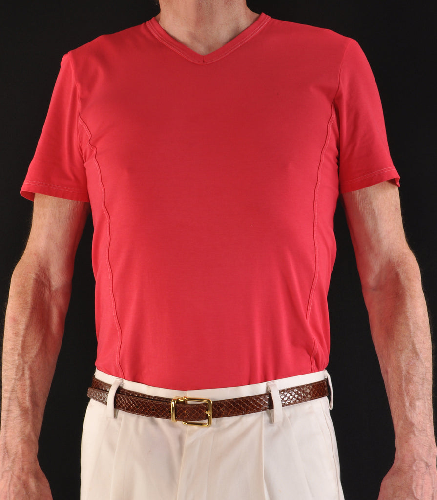 High V-Neck in Fire Red