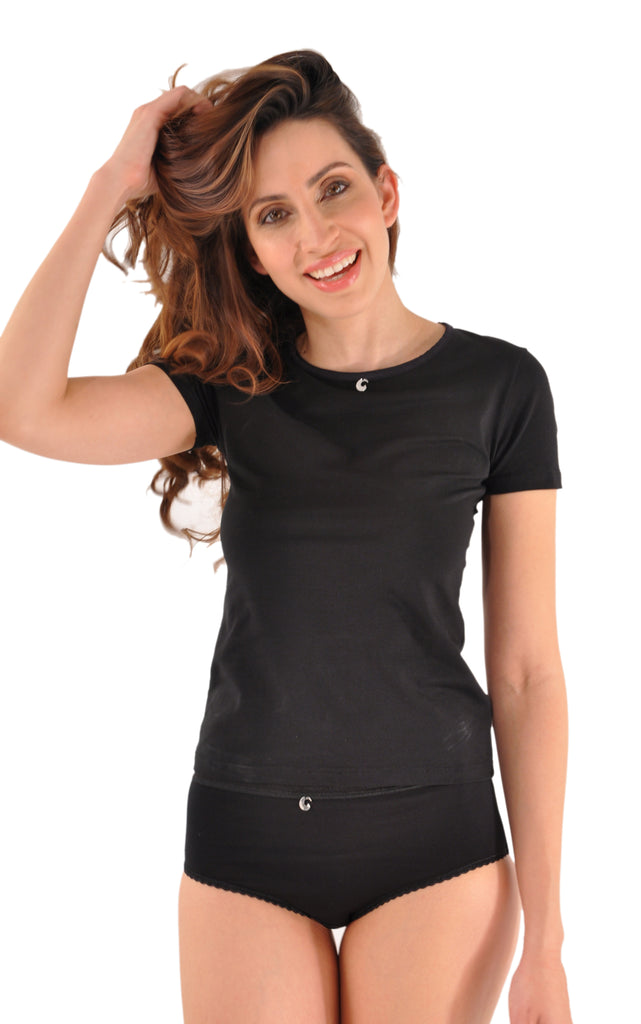 A Kabbaz-Kelly Design: Pure Elegance Soft Italian Cotton T-shirt