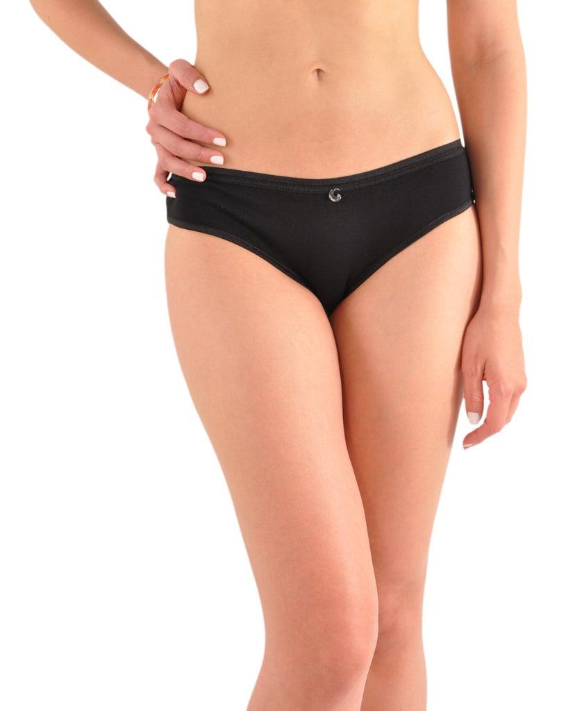A Kabbaz-Kelly Design: Pure Grace Italian Mini-Rib Cotton Bikini Panty