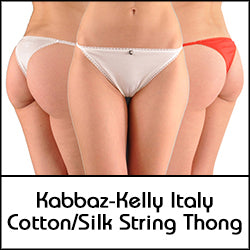A Kabbaz-Kelly Design: Italian Silk and Cotton String Thong Panty