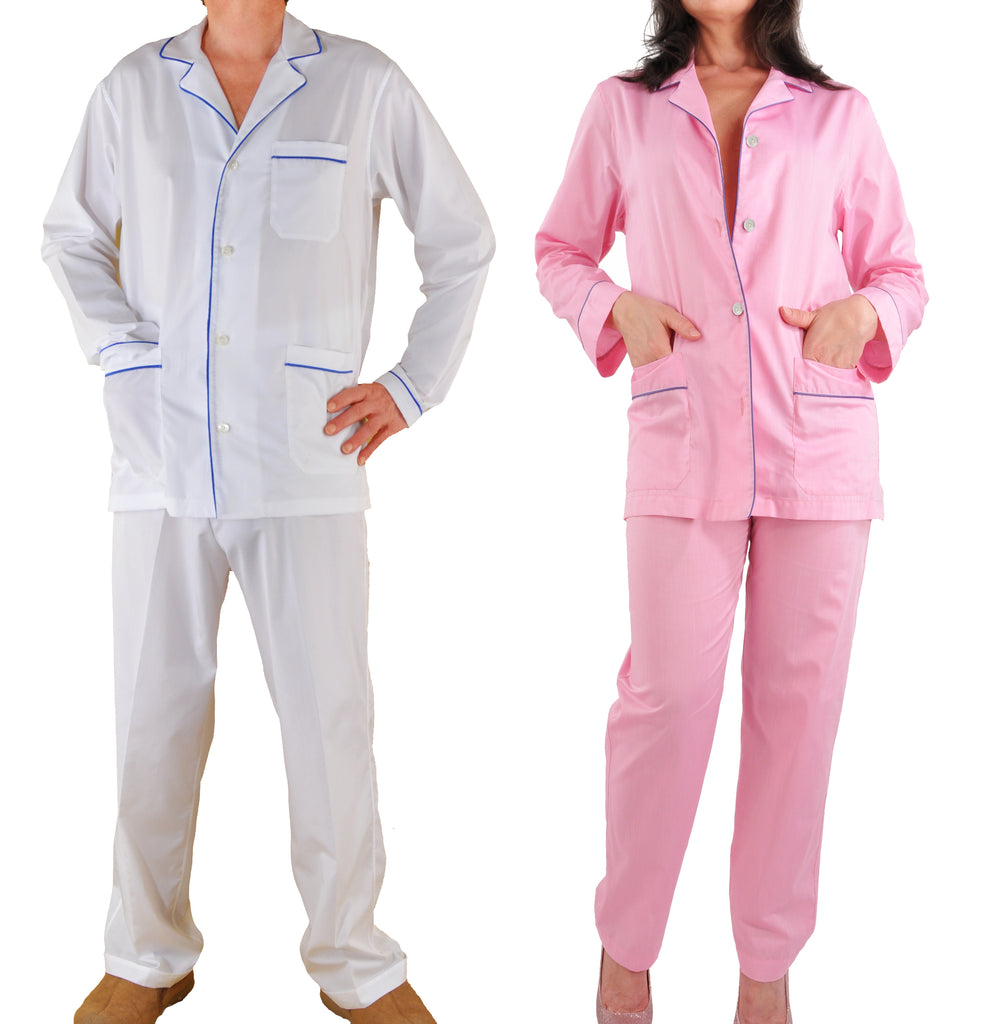 Silk-Trimmed Sea Island Cotton Pajamas by Kabbaz-Kelly