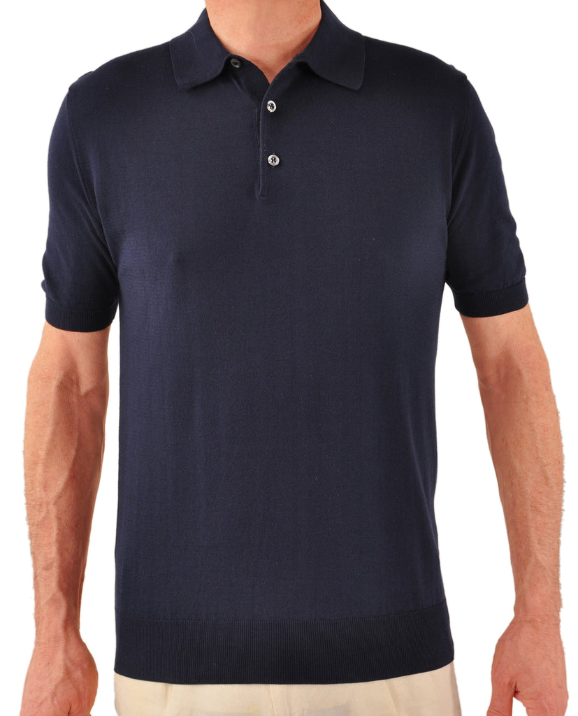 Sea Island Polo - Navy