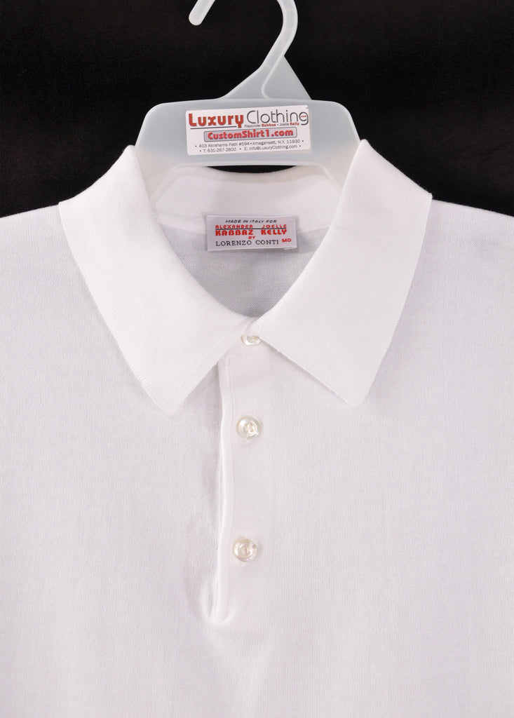 Sea Island Polo - Collar Detail