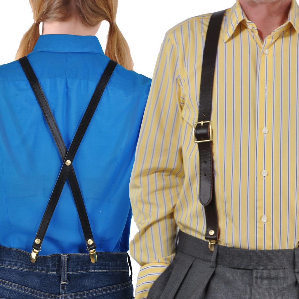 Bespoke Butterball Leather Braces & Suspenders for Men & Women