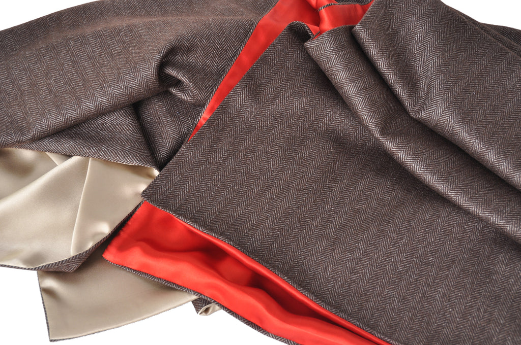 A Kabbaz-Kelly Custom Creation: Cashmere & Silk Reversible Scarf