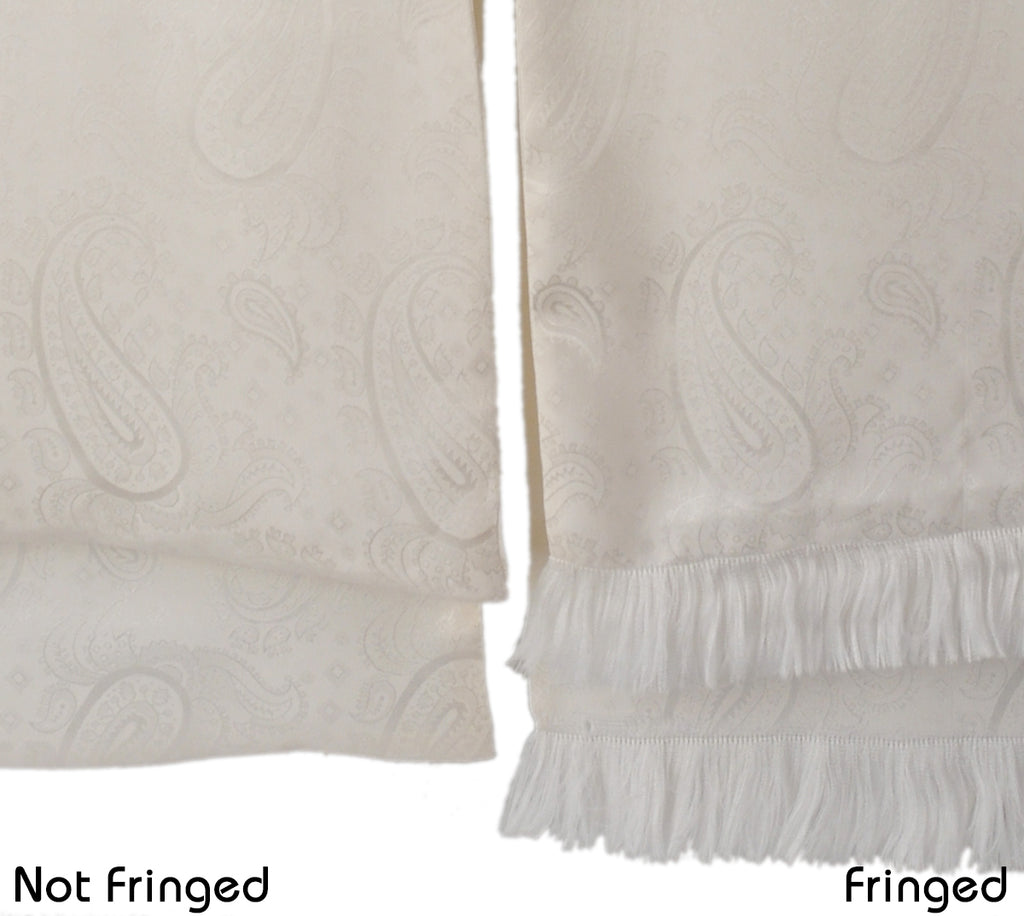 A Kabbaz-Kelly Custom Creation: White Silk Paisley Formal Scarf