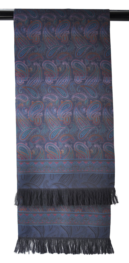 A Kabbaz-Kelly Custom Creation: Stunning Hand-Fringed Silk Paisley Scarf