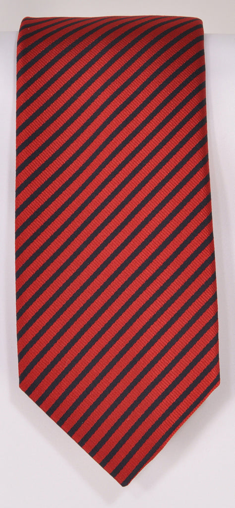 Classic Kabbaz-Kelly Exclusive Limited Edition: Red Stripe Handmade Italian Silk Necktie