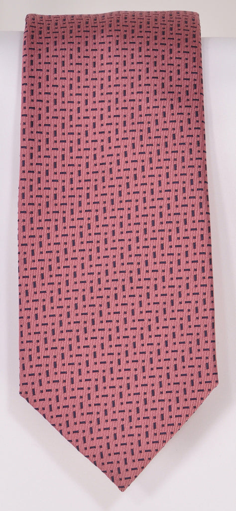 Classic Kabbaz-Kelly Exclusive Limited Edition: Pink Neat Handmade Italian Silk Necktie