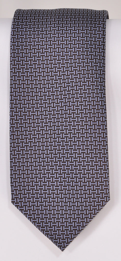 Classic Kabbaz-Kelly Exclusive Limited Edition: Blue Neat Handmade Italian Silk Necktie