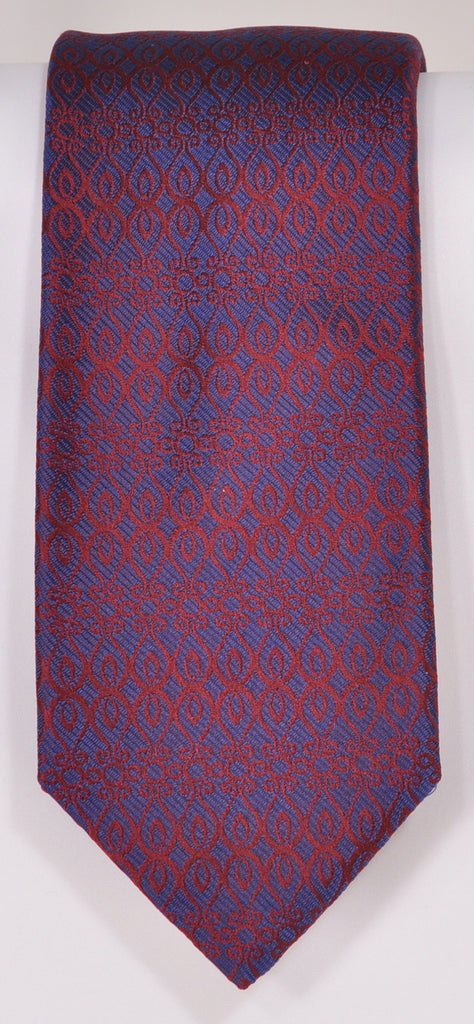 Classic Kabbaz-Kelly Exclusive Limited Edition: Red Neat Handmade Italian Silk Necktie