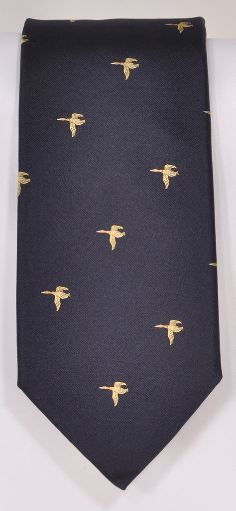 Classic Kabbaz-Kelly Exclusive Limited Edition: Mallord Blue Print Handmade Italian Silk Necktie