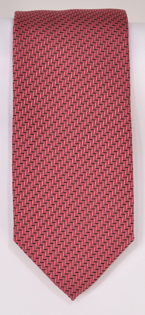 Classic Kabbaz-Kelly Exclusive Limited Edition: Pink Solid Handmade Italian Silk Necktie
