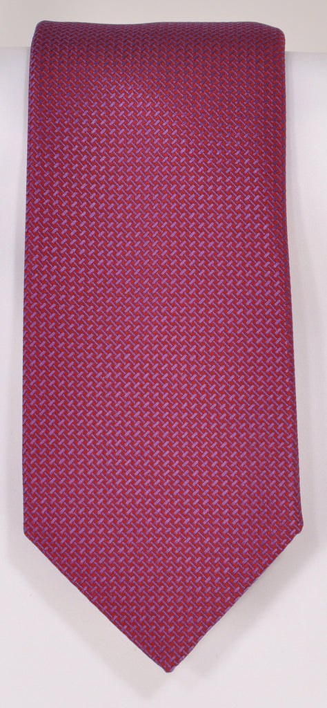 Classic Kabbaz-Kelly Exclusive Limited Edition: Red Solid Handmade Italian Silk Necktie