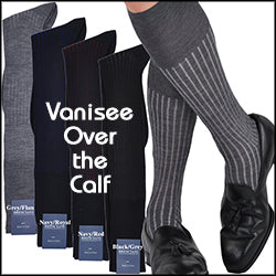 Incredible Vanisee in Merino/Cotton Blend Over-the-Calf Socks