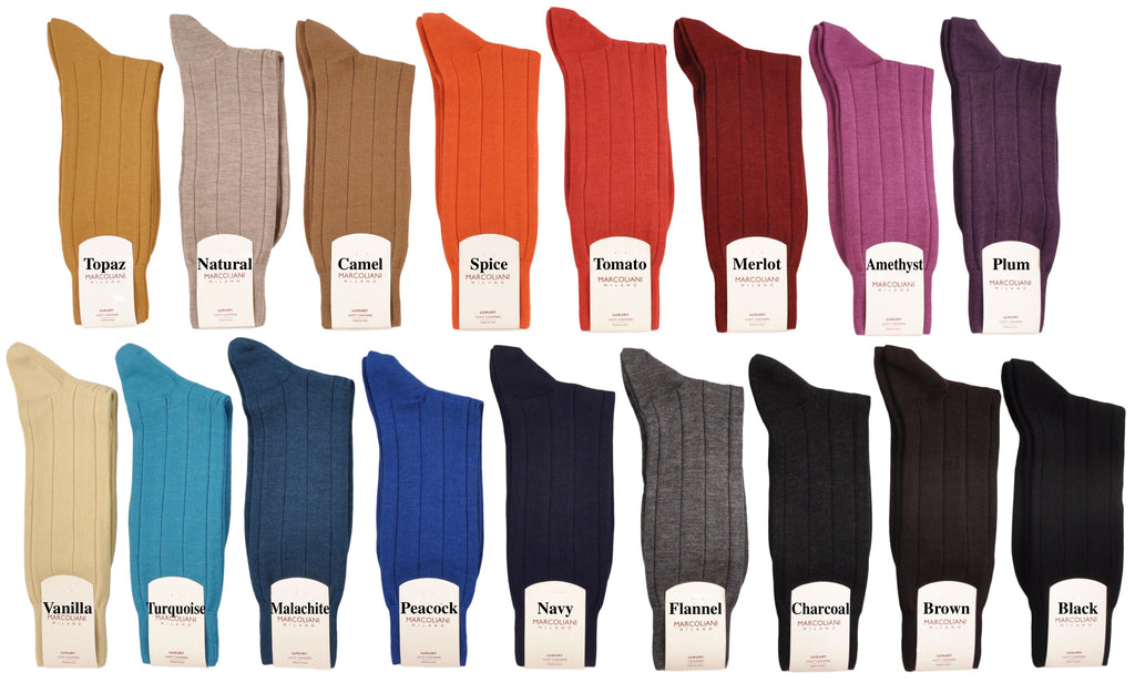 Mid-Calf Cashmere and Silk Socks