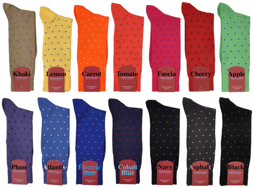 OSFM Cotton Fun Dots Mid-Calf Socks