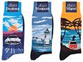 Corgi Iconic Scenes Series Mid-Calf Cotton Socks