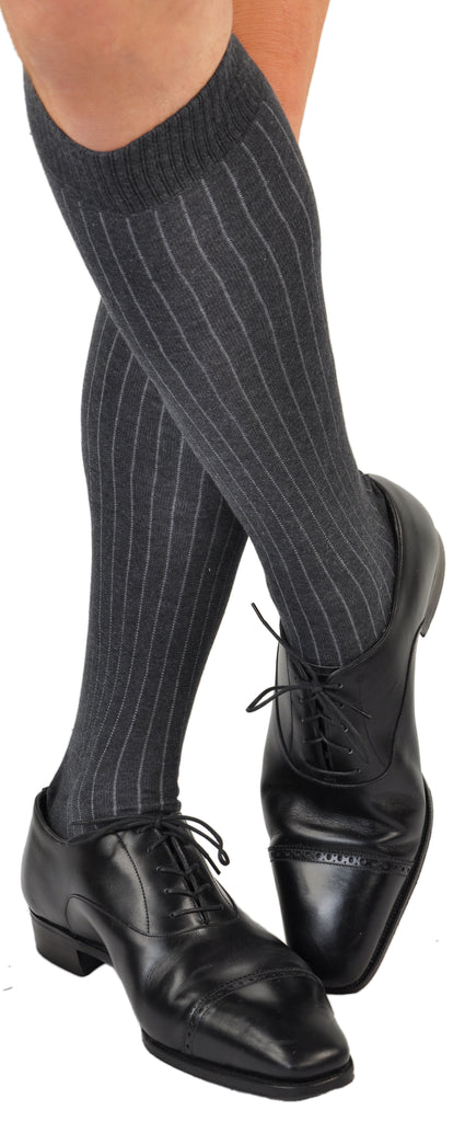 Gessato Pin Stripe - Charcoal