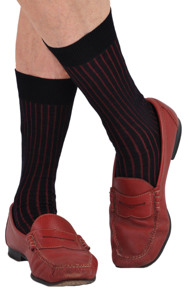 Navy/Red as a Casual Sock