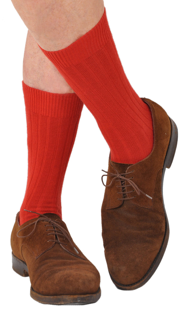 Cashmere Winter Weight Mid-Calf Ribbed Bresciani Socks